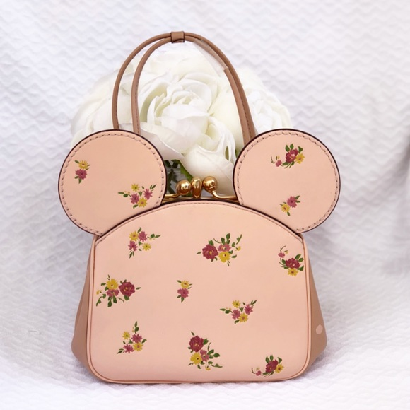 Coach Handbags - Disney x Coach Minnie Mouse Kisslock Bag